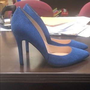 Charles by Charles David Blue Snakeskin Shoes